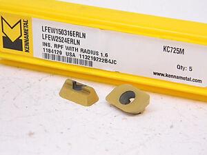NEW-5PCS-KENNAMETAL-CARBIDE-INSERTS-LFEW-150316ERLN-GRADE-KC725M