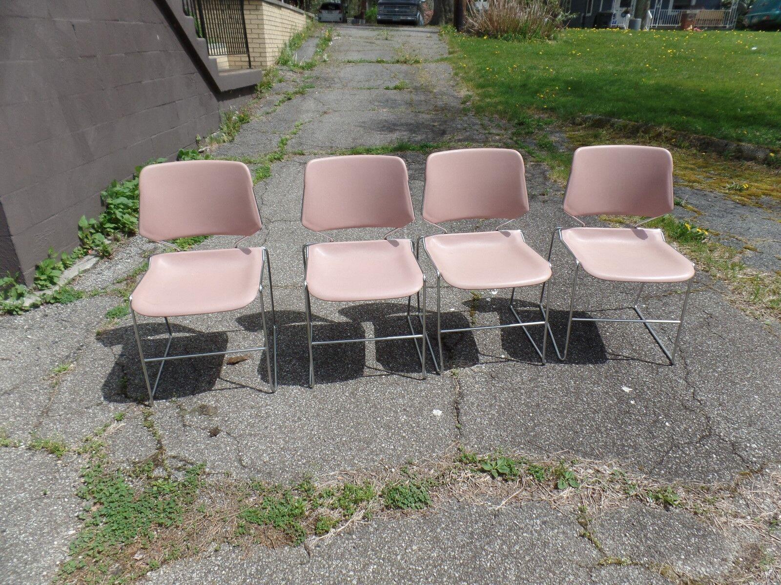 Krueger Matrix Stacking Chairs Chair Mid Century Modern