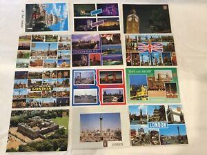 Vintage-12-Postcards-Unused-From-London-UK