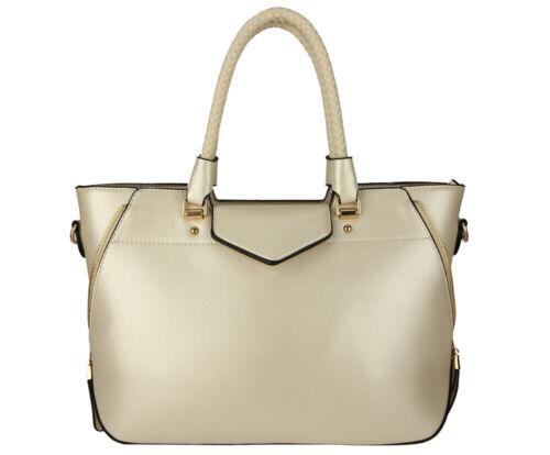 Ladies Handbags Designer Womens Medium Size Faux Leather Tote Shoulder Bags UK