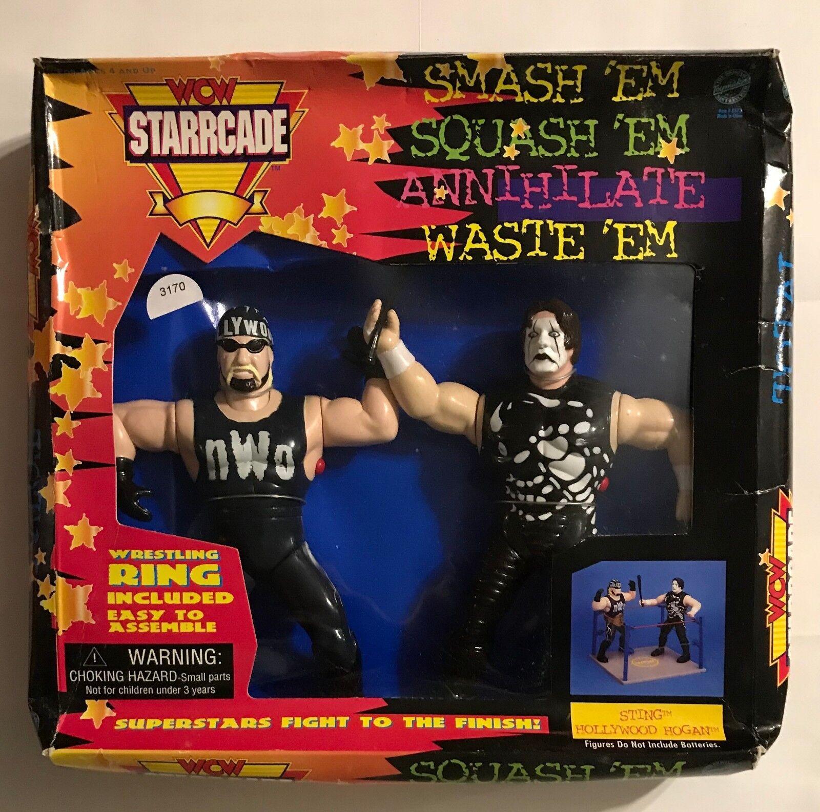 1997 WCW STARCADE RING  w HOLLYWOOD HOGAN HOGAN HOGAN & STING  w REAL SOUNDS - NEW e3d47d