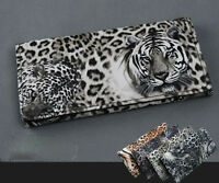 Women Tiger Leopard Print Long Wallet Purse Coin Bag Card Holder Handbag jx