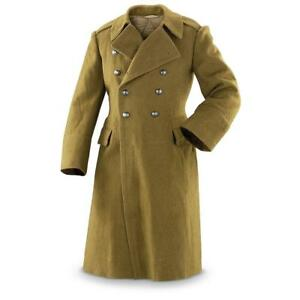 dd95f763c8 Details about Romanian Communist wool army trenchcoat soviet era greatcoat  military coat