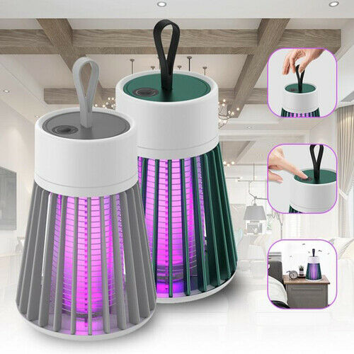 2 in 1 USB Mosquito Insect Killer Lamp Bug Zapper Camping Lantern Tent Light UK