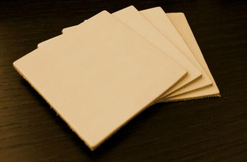 4 cuir morceaux 10x10 Blank Cuir dickleder tannage Cuir latex punzierleder