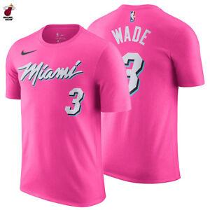 Détails sur Dwyane Wade 201819 Miami Heat Nike Earned Edition T Shirt Nom & Numéro Rose #3 afficher le titre d'origine