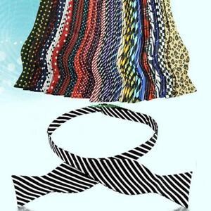 Bow-Tie-Adjustable-Necktie-Fashion-Men-039-s-Multi-Color-Self-Neckwear-Ties-Cravat