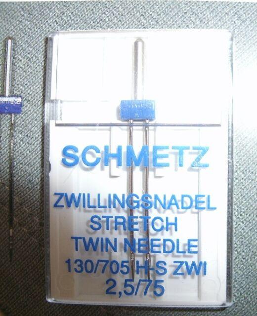 Schmetz-Flachkolben-Zwillingsnadel, Stretch 2.5/75