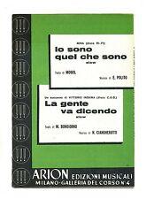 IO SONO QUEL CHE SONO-LA GENTE VA DICENDO #Spartito Arion# Mina-Vittorio Inzaina