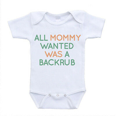 all mommy wanted was a backrub funny inappropriate baby bodysuit clothing unique
