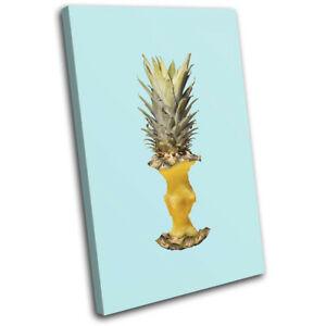 Pineapple-Apple-Concept-Food-Kitchen-SINGLE-CANVAS-WALL-ART-Picture-Print