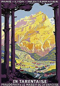 Railroad RARE PROVINS VINTAGE TRAVEL POSTER France