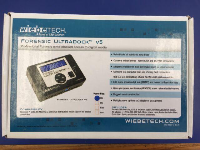 Wiebetech Forensic Ultradock V5 Drive Dock For Sale Online Ebay