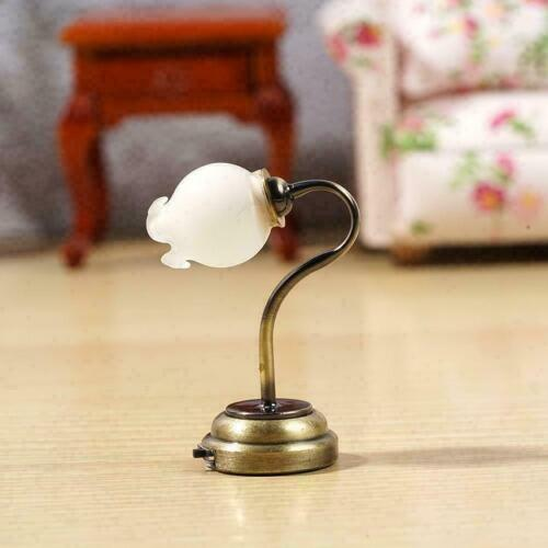 1:12 Dollhouse Miniatures Tulip flower type wall lamp Y6E6 Operate light A6C5