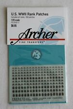 Archer 1/35 US Army Rank Uniform Patches (all Lower Ranks) (180 patches) FG35017