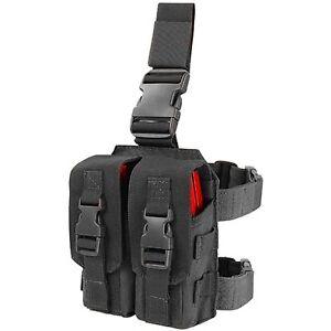 condor black ma65 molle drop down leg 5 56 223 magazine mag pouch