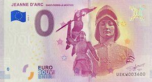 BILLET-0-EURO-JEANNE-D-039-ARC-FRANCE-2018-NUMERO-3600