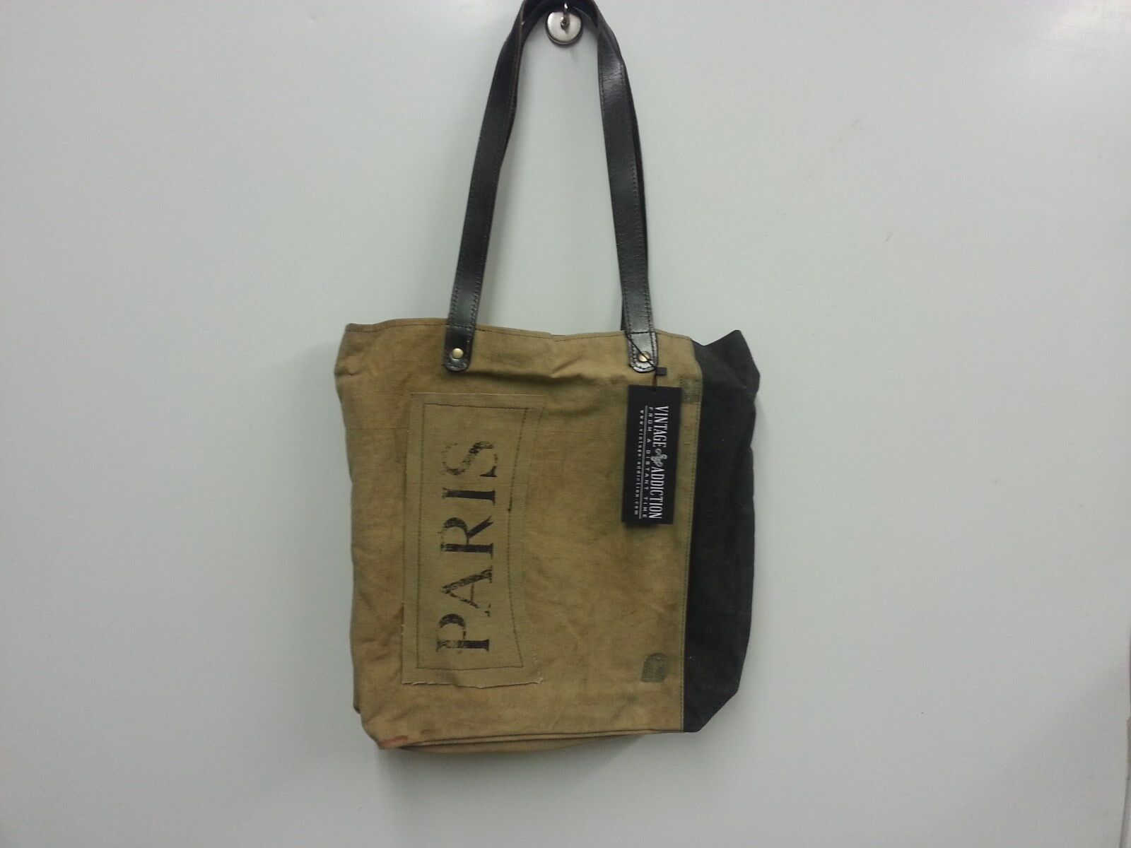 Recycled Canvas Pouch Large Clutch Carryall Pouch Military Canvas