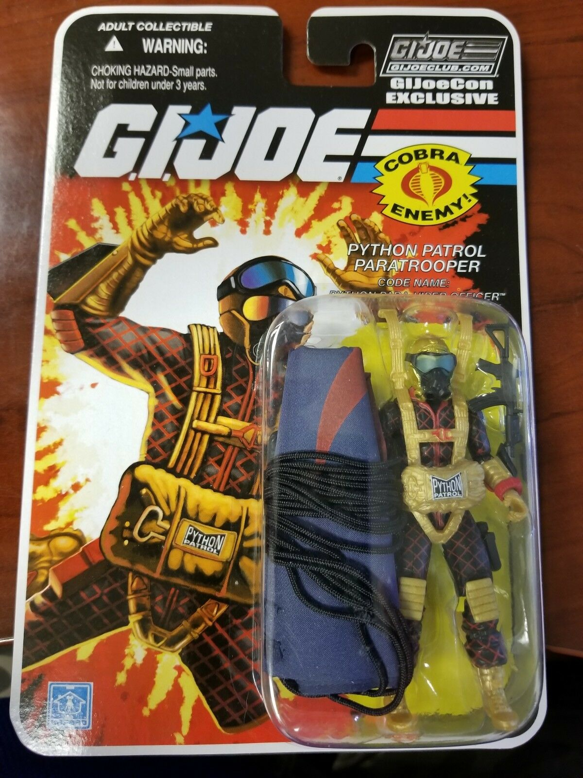 GI Joe Convention 2018 Parachute Figure Para-Viper Officer Mint on Card