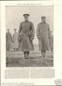 General-Pershing-General-Liggett-US-Army-Clermont-France-WWI-14-18-PLANCHE-1929