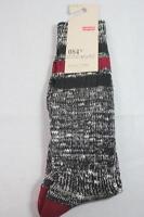 Authentic Levis Levi's Men 084 Socks Regular Cut Blk Black Crew Sz 9-12