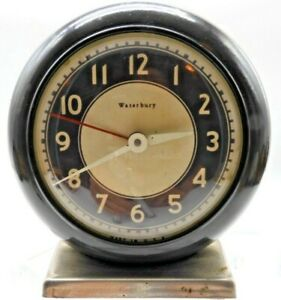 Antique-Rare-Waterbury-Clock-Co-Alarm-Clock
