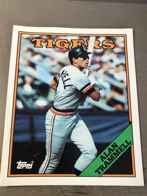 1988 Topps Alan Trammell Baseball Card 2 Page Folder 320 Detroit Tigers