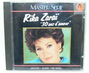 RIKA ZARAÏ 30 ans d'amour Master Serie 1991 Chansons Française vintage 30's 50's