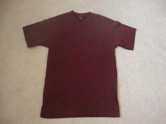 Vintage Stussy BLANK Burgandy ROT skateboard T Shirt M