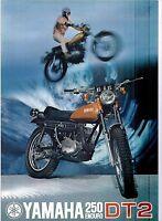 1972 Yamaha 250 Single Enduro Dt2 Factory Original Sales Brochure(reprint) $7.50