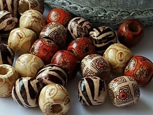 WOODEN-Ball-BEADS-Ethnic-Boho-Mixed-Spacer-12-x-11mm-Jewellery-Making-Crafts