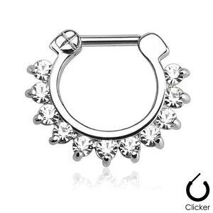 Single-Line-Pronged-CZ-Gems-Surgical-Steel-Bar-Nose-Septum-Ring-Clicker-16g-14g