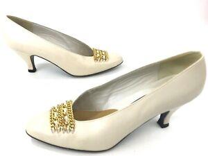 5cef84b32e72 Stuart Weitzman Mr. Seymour Classic Heels Pumps Women Size 5.5 Ivory ...