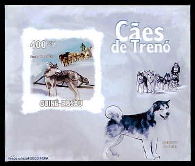 Guinea-bissau Epreuve De Luxe Schlittenhunde Huskies Hund Dogs Deluxe Sheet Dr37 HüBsch Und Bunt