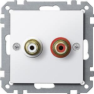 Steckdose-fuer-Audio-Anschluss-polarweiss-glaenzend-System-M-MEG4350-0319