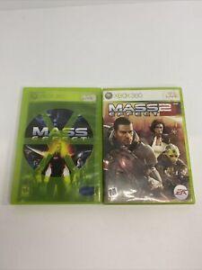 Mass Effect 1 & 2 Bundle Lot (Microsoft Xbox 360) - Free Shipping