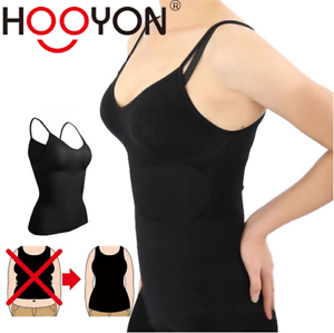 1899fb5680438 Women Cami Body Shaper Tummy Control ShapeWear Waist Slim Tank Top ...