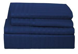 Egyptian-Comfort-1800-Count-4-Piece-Bed-Sheet-Set-Deep-Pocket-Dobby-Stripe-Sheet
