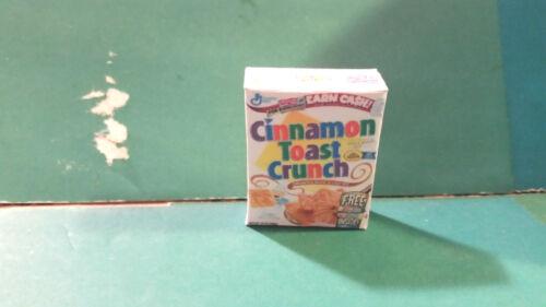 Barbie 1:6 Kitchen Food Miniature Handmade Box of Cereal Cinnamon Toast Crunch