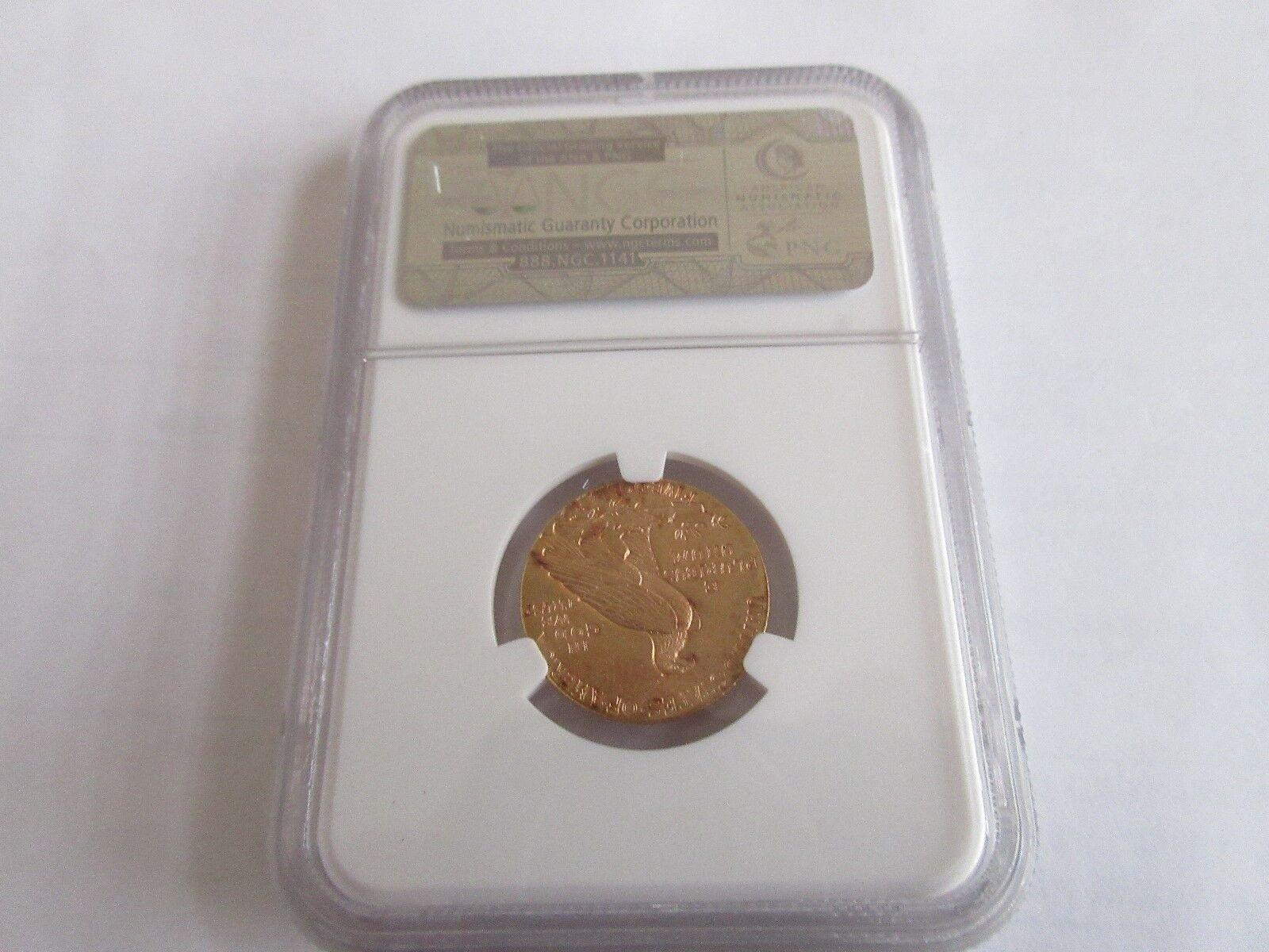 1915 , Indian Head , G$5 , Half Eagle , NGC , MS 61+