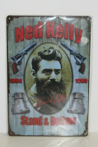 Details about  /NKMS2 Ned Kelly  Metal Sign New 30 cm H X 20 cm W