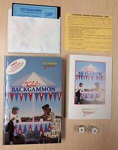 Commodore-64-C64-Game-CLUB-BACKGAMMON-California-Dreams-CIB-Complete-in-Box