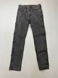 LEVI-S-522-Slim-Tapered-Jeans-W31-L34-Faded-Black-Great-Condition-Men-s