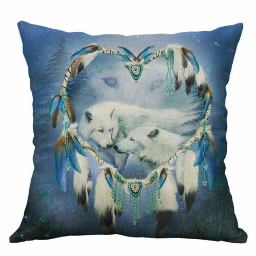"""18/"""" Pillowcase For New Wolf & Room Sofa Cover Cushion Pattern Living Animal"""