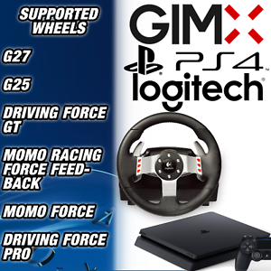 ccb83a8444f GIMX USB WHEEL ADAPTER- USE YOUR LOGITECH G27, G25 & MORE ON PS4 | eBay