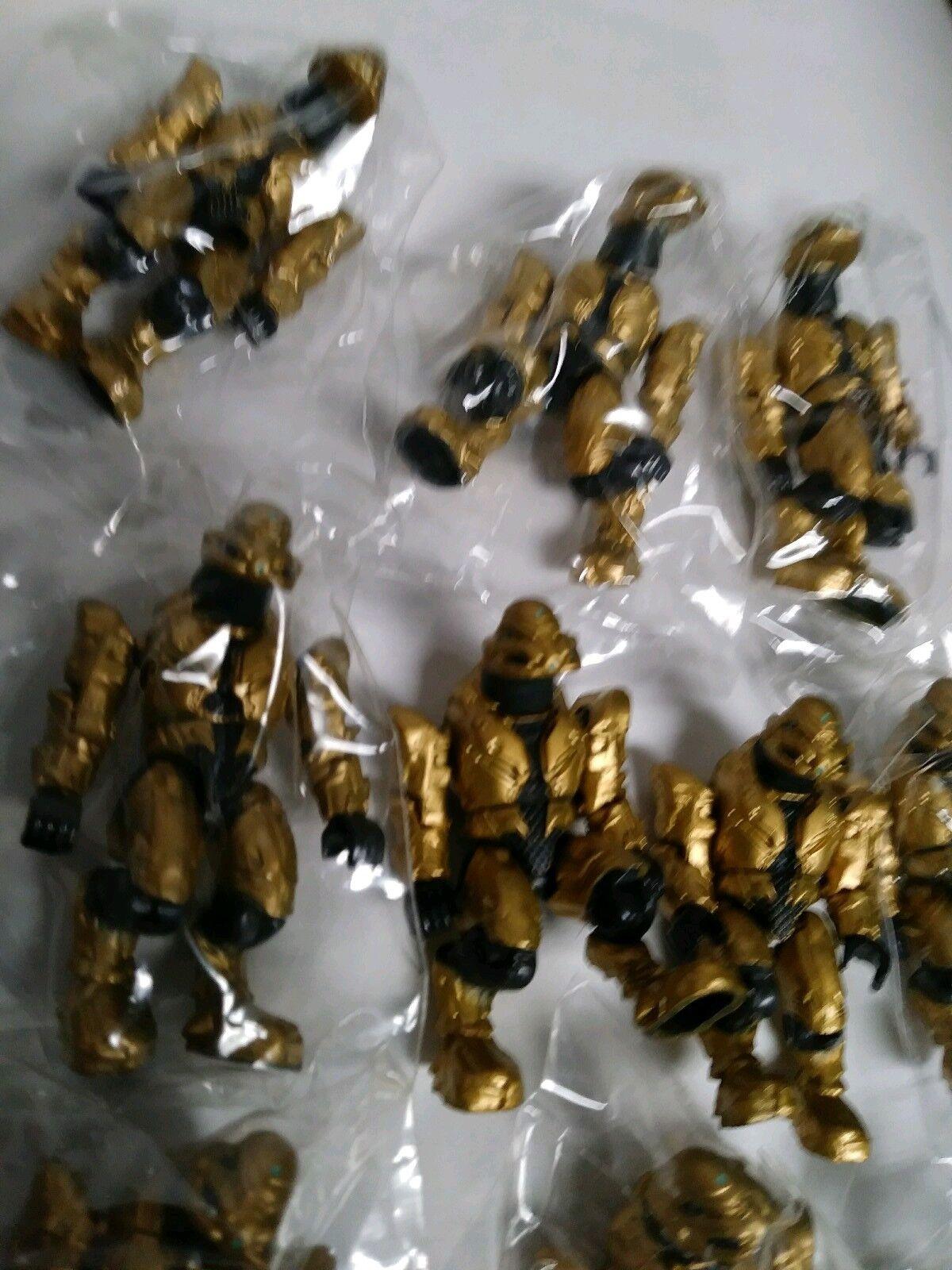 Mega Bloks Halo gold gold gold Covenant Elite Commando Lot of 10 Mini-Figures from 97014 7624b2