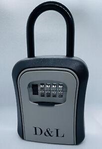 Combination Portable Lockbox for Real Estate,Key Lock Box,up to 8 Keys Capacity