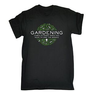 Gardening handy for hiding bodies men t shirt gardener for Gardening gifts for men
