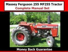 Massey Ferguson 255 Mf255 Tractor Complete Manual Set Workshop Parts Operator