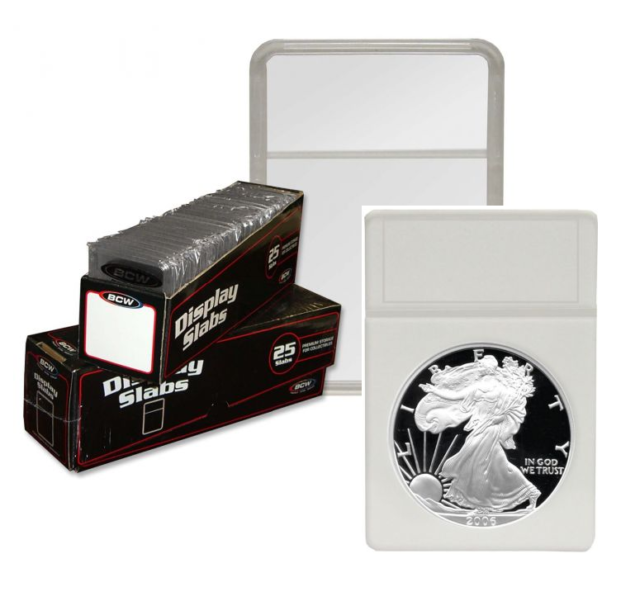 COIN HOLDERS ARCHIVAL QUALITY 25 TOTAL 2 x 2 SNAP TITE SILVER DOLLAR